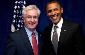 John Morse and Barack Obama