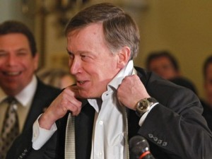 """I'm just here for the party"" -John Hickenlooper"