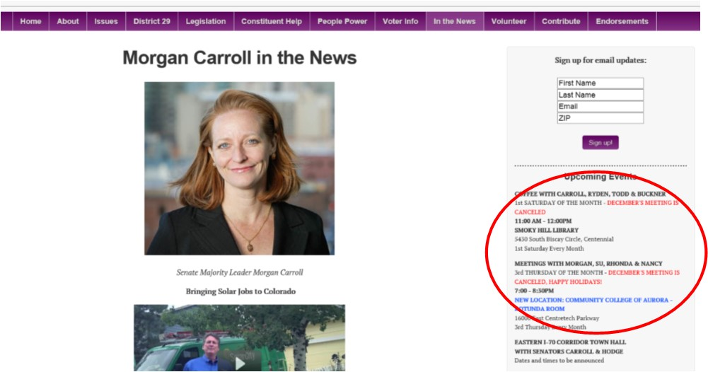 Morgan Carroll in hiding