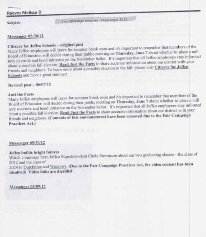 Jeffco emails page five