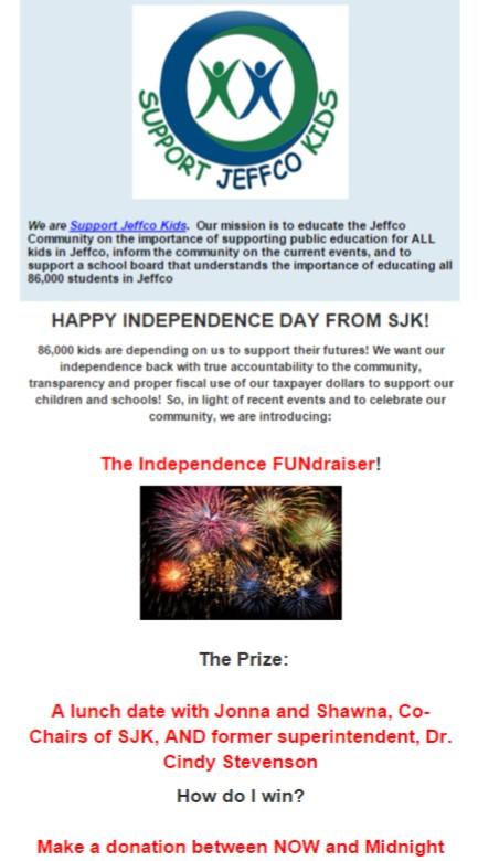 Support Jeffco Kids