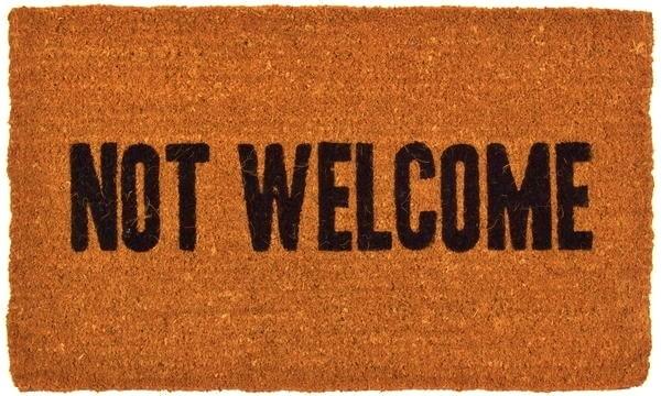 Colorado Peak Politics Not Welcome Coir Doormat