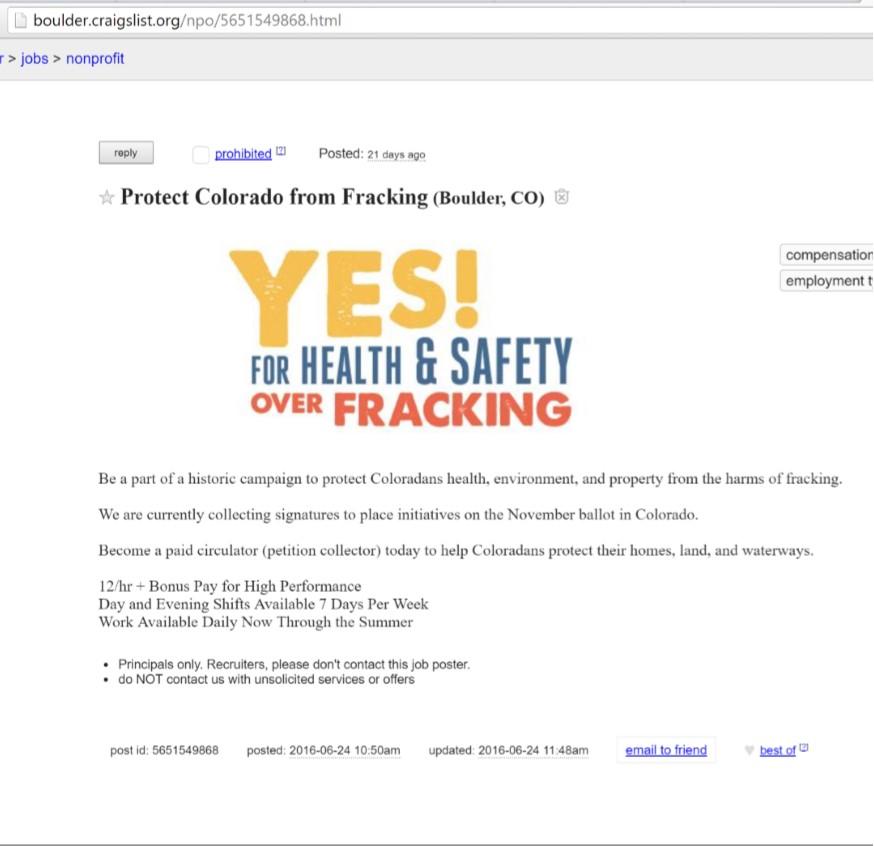 Colorado Peak Politics | Fracking Jobs