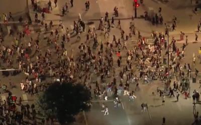 Polis tells protestors spray paint graffiti is OK, just maintain social distancing