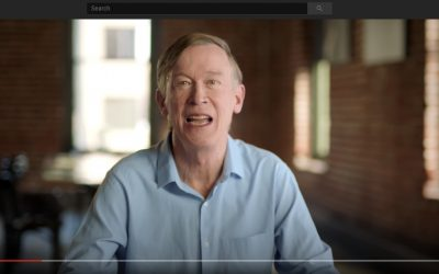 Is John Hickenlooper wearing lipstick in his new ad?