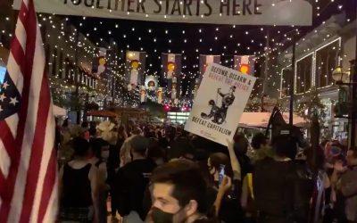 Radical protestors harass diners in Denver's Larimer Square