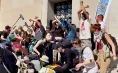 Radical activists clash with police to occupy Washington in Jan. 6 style attacks