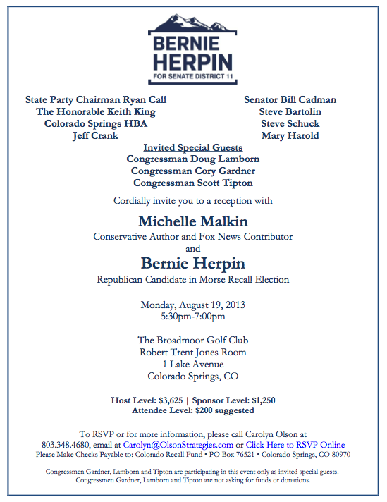 Colorado peak politics malkin herpin fundraiser invite post stopboris Images