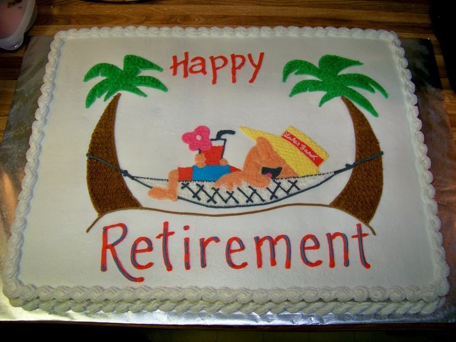 Colorado Peak Politics Retirement Cake